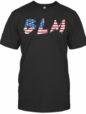 BLM American Flag Veteran Independence Day T-Shirt