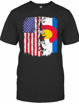 Colorado And American Flag Independence Day T-Shirt