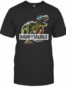 Daddysaurus Drinking Beer Party T-Shirt