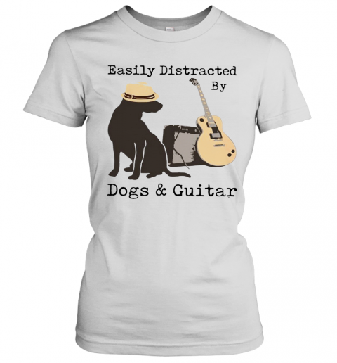 Easily Distracted By Guitar And Dogs T-Shirt Classic Women's T-shirt
