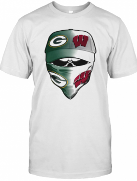 Kull Mask Green Bay Packers And Wisconsin Badgers T-Shirt