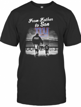 New York Giants From Father To Son Metlife Stadium Happy Father'S Day T-Shirt