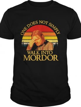 One Does Not Simply Walk Into Mordor Vintage shirt