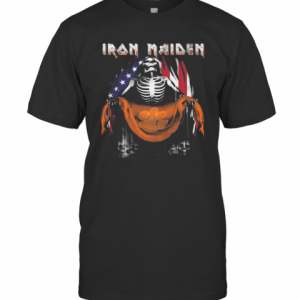 Skeleton Iron Maiden Clemson Tigers Logo American Flag Independence Day T-Shirt Classic Men's T-shirt