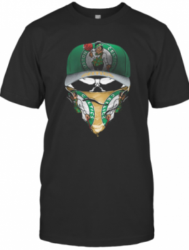Skull Mask Boston Celtics Basketball T-Shirt