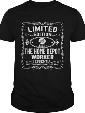 the home depot worker essential the year when shit got real mask shirt