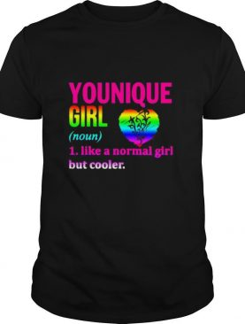 Lgbt younique girl like a normal girl but cooler heart shirt