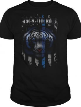 Tigers back the blue american flag independence day shirt