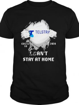 Blood insides telstra i can't stay at home covid 19 2020 shirt