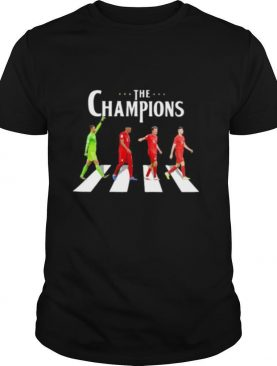 Soccer the champions crossing the line shirt