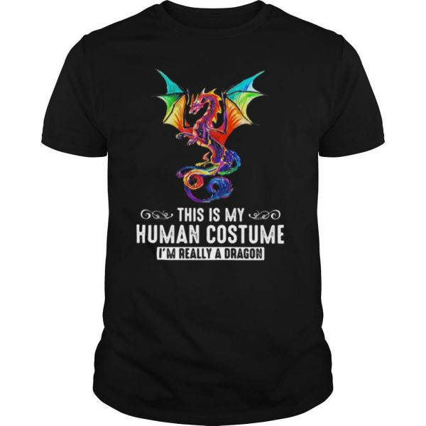 This is my human costume i'm really a dragon shirt