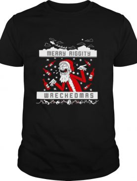 Rick And Morty Merry Swiftmas Merry Riggity Wrecked Xmas Ugly Christmas shirt