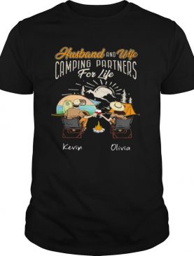 Husband And Wife Camping Partners For Life Kevin And Oliva shirt