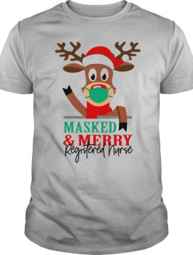 Masked and Merry Registered Nurse Christmas shirt