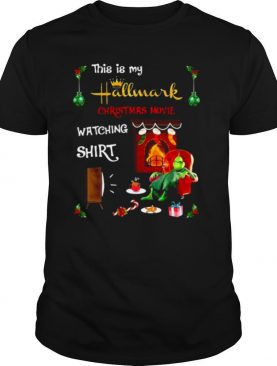 Resting Grinch face this is my hallmark christmas movie watching shirt