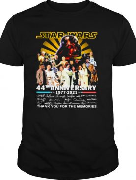 Star Wars 44th Anniversary 1977 2021 Thank You For The Memories Signuature shirt