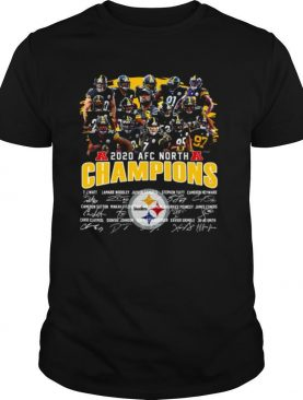 Pittsburgh Steelers 2020 Afc North Champions Signatures shirt