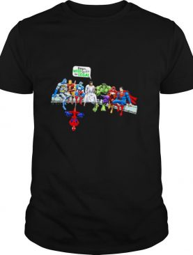 Jesus And Chibi Superheroes Guys Weed Should Be Legal shirt