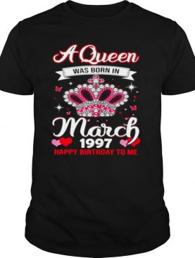 Queens are born in March 1997 Queens 24th Birthday For Girl shirt